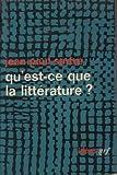 Qu'est ce que la littérature - Nrf