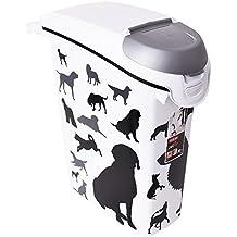 CURVER Contenedor de alimento para Perros 10 kg/23L, plástico, Blanco/Negro