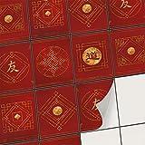 creatisto Mosaik Klebefliesen Stickerfliesen Fliesenfolie - Hochwertige Aufkleber Sticker für Fliesen   Stickerfliesen - Mosaikfliesen für Küche, Bad, WC Bordüre (15x20 cm   30 -Teilig)