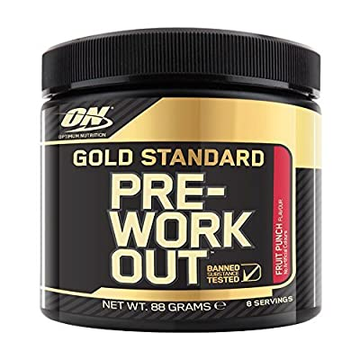 Optimum Nutrition Gold Standard Pre-Workout Fruit Punch 8 Serve Tub by Optimum Nutrition