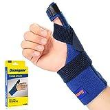 Muñequera de neopreno (por quanquer, ajustable pulgar Spica férula para dolor, sprained, artritis, tendonitis- mejor disparador inmovilizador de pulgar para el pulgar CMC restricción, apoyo para el pulgar y Guard- izquierda o mano derecha