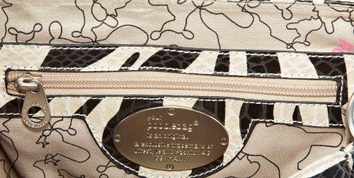 Poodlebags Funkyline - Remix Esotico - Miami Cherry - Zebra Petrol 3fl0313miamz, Damen Henkeltaschen 23x21x14 Cm (bxhxt) Mehrfarbig (zebra / Benzina)