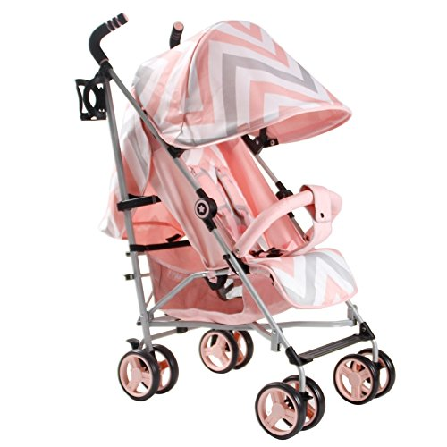 My Babiie MB02 Pink Chevron Stroller - Includes Raincover  My Babiie
