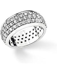 S. Oliver Damen-Ring 925 Silber Zirkonia weiß 3849
