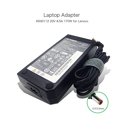szhyon 20V 8.5A 170W 5.5 * 5.5mm 45N0112 45N0113 AC Adapter Charger compatible with Lenovo Y500 Y500N W700 W701 Laptop Power Supply -