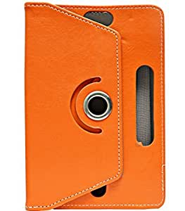 Gadget Decor (TM) PU LEATHER Rotating 360° Flip Case Cover With Stand For Zunc Z81 - Orange