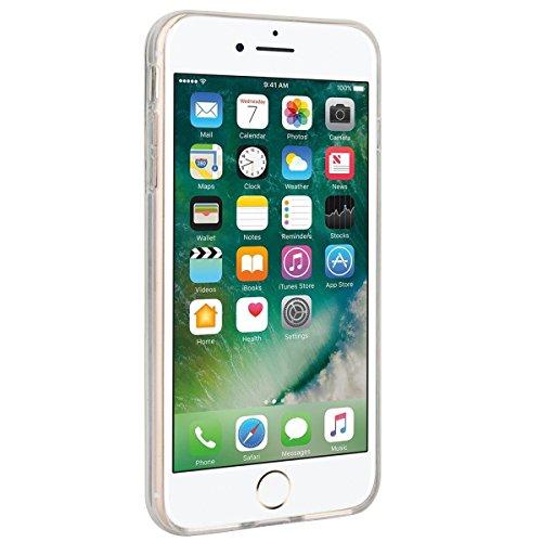 """WE LOVE CASE iPhone 7 Plus 5,5"""" Hülle Weich Silikon iPhone 7 Plus 5,5"""" Schutzhülle Handyhülle Im Durchsichtig Transparent Crystal Clear Treibsand Glitzer Liquid Quicksand Funkeln Stern Liebe Silber St Blau"""