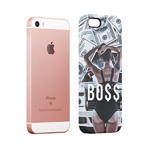 Sinner Rich High Life Girls Wasted Youth Dünne Rückschale aus Hartplastik für iPhone 7 & iPhone 8 Handy Hülle Schutzhülle Slim Fit Case cover Boss Chick