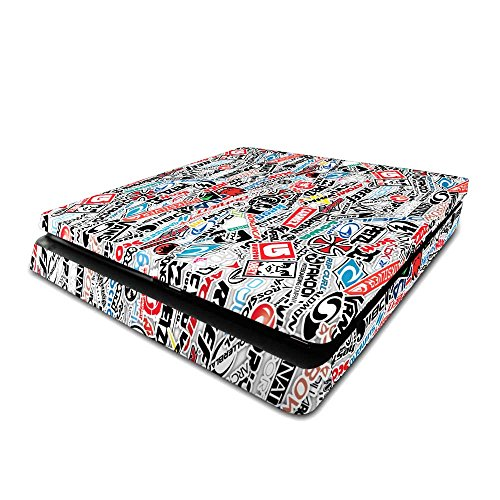 Playstation 4 Slim PS4 Slim Skin Extreme Sports Sticker Bomb Console Skin / Cover/ Wrap for Playstation 4 Slim