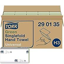 Tork groene zigzag papieren handdoeken Universal 290135 - H3 vouwhanddoeken voor papieren handdoekdispenser - 1-laags, groen - 20 x 200 doeken