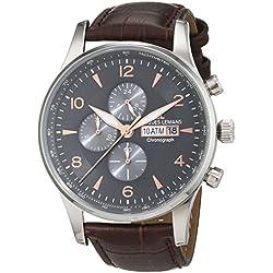 Jacques Lemans men's Quartz Watch Analogue Display and Leather Strap 1-1844D