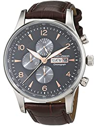 Jacques Lemans Herren-Armbanduhr London Analog Quarz Leder 1-1844D