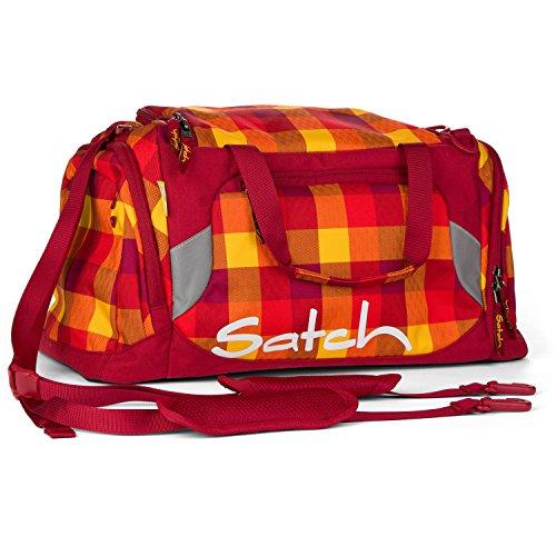 Satch Grinder borsa sportiva SAT DUF-001-216, 50 cm, 25 L, Verde Rosso (Red Yellow Checks)