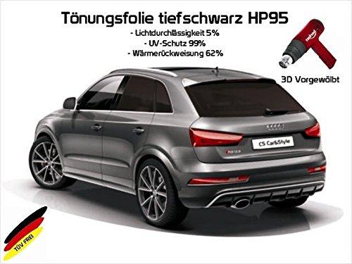 Preisvergleich Produktbild 3 D TÖNUNGSFOLIE PASSGENAU VORGEWÖLBT VW AMAROK DOPPELKABINE AB BJ.09/10- (tiefschwarz HP 95 Lichtdurchlässigkeit 5% Wärmerückweisung 62%)