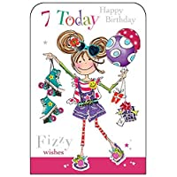 Jonny Javelin Girl Age 7 Birthday Card