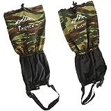 Generic Waterproof Outdoor Climbing Snow Legging Gaiters Leg Cover Wrap Camo Black