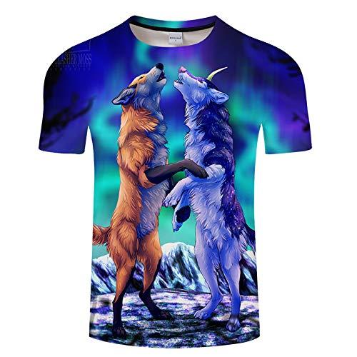 Landschaftsmalerei Digitaldruck Kurzarm T-Shirt Herren TXKH728 6XL