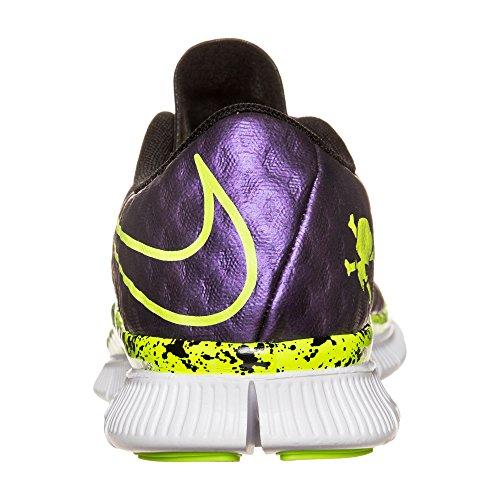 Nike Free Hypervenom (Gs), Chaussures de Foot Garçon Multicolore - Morado / Amarillo / Verde (Hyper Grape / Volt-Black-White)