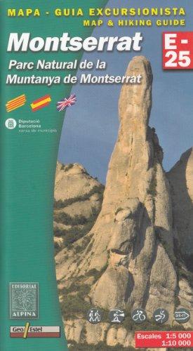 Parc Naturel de la Muntanya de Montserrat (Espagne, Pyrnes) 1:25K topographique carte de randonne ALPINA