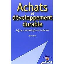Achats et développement durable: Enjeux, méthodologies et initiatives