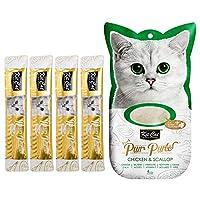 Kit-Cat Purr Puree Chicken & Scallop Wet Cat Treat Tubes 4x15g