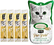 Kit-Cat Purr Puree Chicken & Scallop Wet Cat Treat Tubes 4