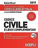 Codice civile e leggi complementari 2019. Editio minor. Con espansione online