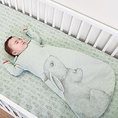 La Little Green oveja Wild algodón 6-18M orgánico saco de dormir 1,0tog (conejo)