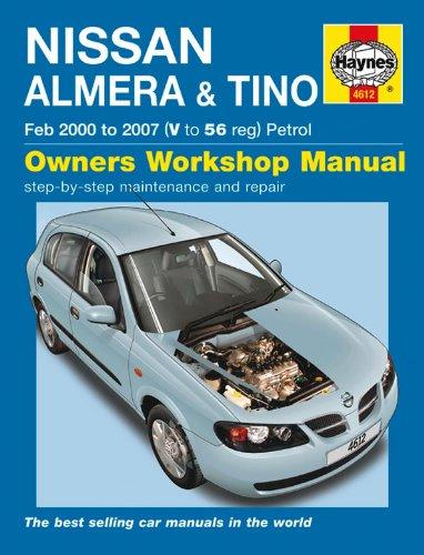 Haynes Nissan Almera & Tino Februar 2000–2007manuell