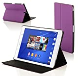 "Forefront Cases® Sony Xperia Z3 Tablette Compact 8 Pouces 8"" SGP611 Étui Housse Coque Smart Case Cover Stand - Ultra Mince avec Protection complète de l'appareil et Fonction Intelligente Veille / Réveil Automatique (VIOLET)"
