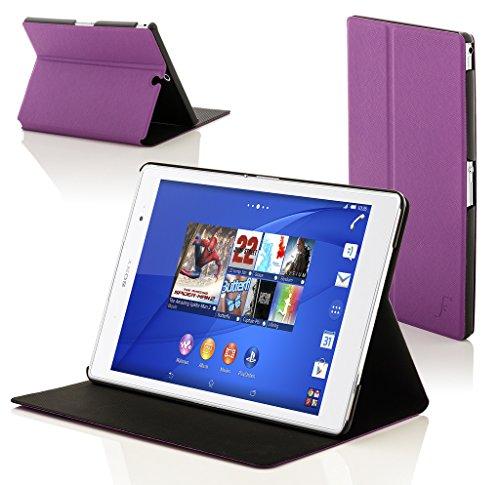 """Forefront Cases Sony Xperia Z3 Tablette Compact 8 Pouces 8"""" SGP611 Étui Housse Coque Smart Case Cover Stand - Ultra Mince Protection Complète Smart Auto Reveil Sommeil (Violet)"""