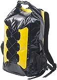 Semptec Urban Survival Technology Gewebeplane-Rucksack: Wasserdichter Trekking-Rucksack aus LKW-Plane, 30 Liter, gelb/schwarz (Wassersport-Rucksack)