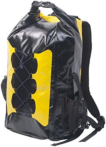 Semptec Urban Survival Technology Kurier-Rucksack: Wasserdichter Trekking-Rucksack aus LKW-Plane, 30 Liter, gelb/schwarz (Schwimmender Ruck...
