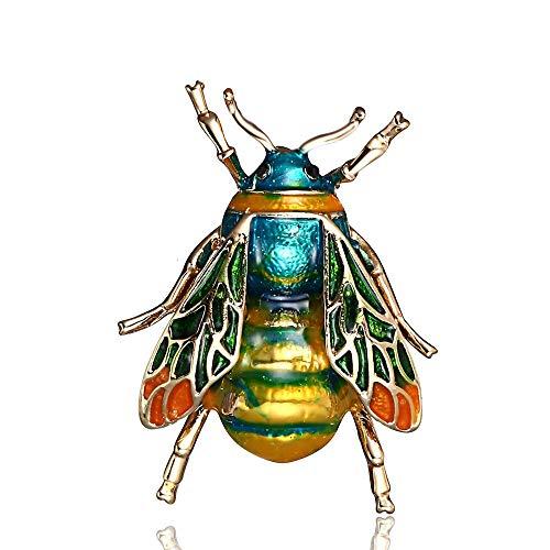 Ningz0l Brosche Einfache Und Zarte Biene Brosche Malerei Öl Brust Blume Pin Weibliche Kleidung Passende Zubehör 3,5 * 2,6 cm (Weibliche Biene Kostüm)