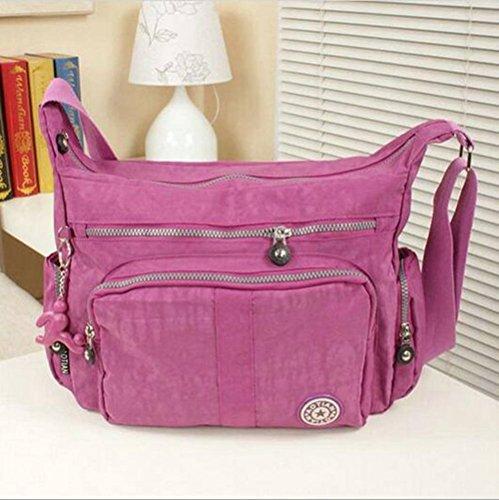 Resistente all acqua con leggero nylon borsa a tracolla 8203 Lavender Lavender