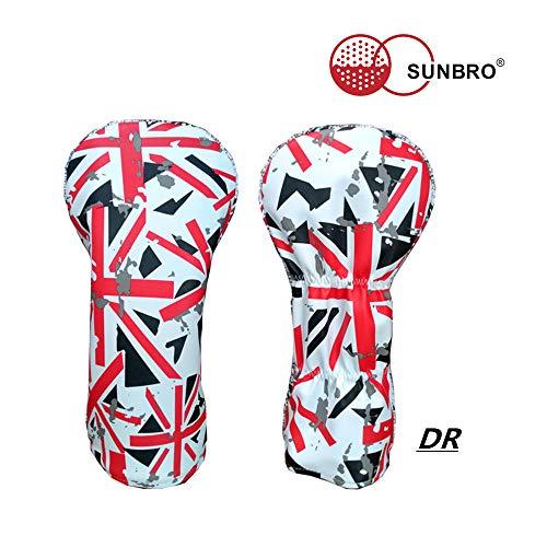 Sunbro Schlägerhauben für Golfschläger mit UK-Flagge, Schlägerschutz für Fahrer, Fairway-Holz, Hybriden, Rescue UUT Woods für alle Marken, Driver