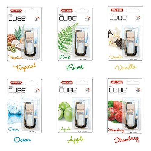 Preisvergleich Produktbild Parfüm Deodorant für ambianti für Auto 5ml ma-fra deo-cube verschiedenen Fraganze 6Stück TROPICAL