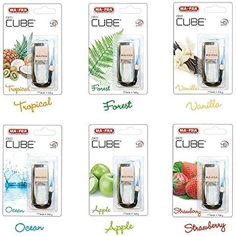 Profumo deodorante per ambianti per auto 5 ml MA-FRA DEO-CUBE varie fraganze 6 pezzi