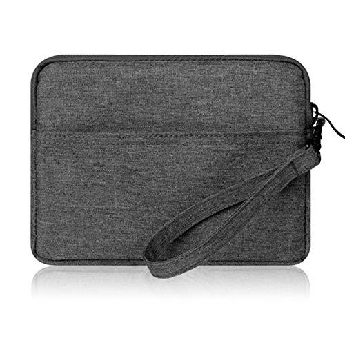 Tragbare Leinwand Schutzhülle mit Reißverschluss und Handschlaufe für Amazon Kindle Paperwhite/Voyage/6 inch Kindle Oasis (Dunkelgrau) ()