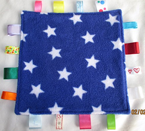 Nannasue.com Baby taggie security comforter blanket pack of one only - Star Light