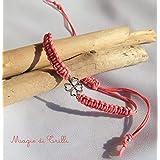 Magie di Trilli - Bracciale macramè con ciondolo portafortuna ragazza donna - regalo - braccialetto estate rosa verde