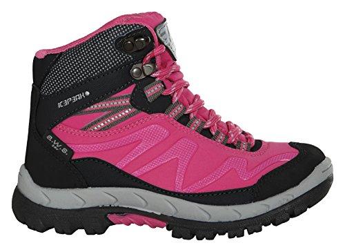 Ice Peak Wright Jr, Baskets Basses Mixte Enfant Rose - Pink (637 hot Pink)
