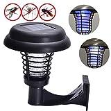 samLIKE - Lámpara antiinsectos eléctrica, con luz LED, para Pared, para Insectos, Mosquitos, para jardín, césped, Mosquitos, sin radiación Solar, Negro