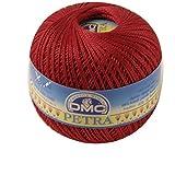 DMC Petra de Hilo, 100% algodón, Rojo, tamaño 5