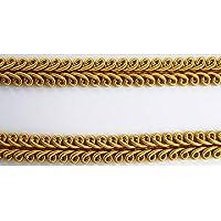 Borte-mit-Stil 2 m Posamentenborte Tracht 10mm breit Farbe: Gold alt
