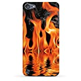 Apple iPod touch 5. Generation Case Hülle Schutzhülle Cover PremiumCase matt white - Burn Down