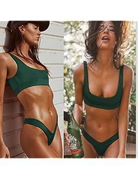 Conjuntos de Bikini Sexy traje de baño Trajes de Baño Moda bañador de adelgazamiento Multi-Colored Split Split...