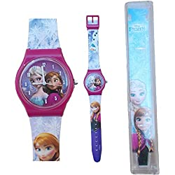 Star Reloj de Pulsera Frozen Elsa Anna Olaf DISNEYANALOGIC CM 25 - 35830FUXIA