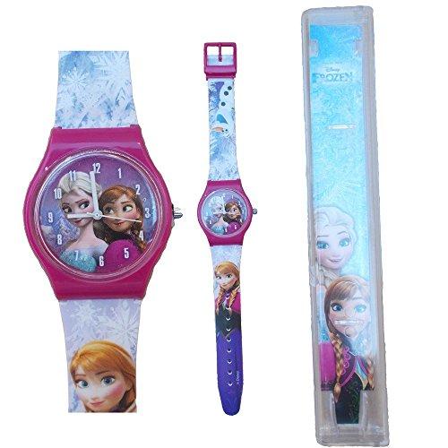 STAR LICENSING Armbanduhr Analog Frozen ELSA Anna Disney Olaf Kinder cm 25 - 35830FUXIA
