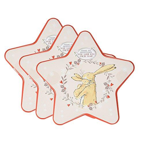 Weißt Du Eigentlich Wie Lieb Ich Dich Hab - 3er Pack Blechdose Ostern mit 300g Gebäck - Ideal für Valentinstag, Ostern, Muttertag oder Hochzeit